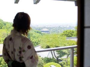 奈良万葉若草の宿 三笠:お部屋から大仏殿が見れる風の棟2階眺望和室