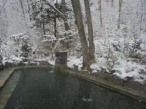 旅館 塩別つるつる温泉:冬の露天風呂(男性)