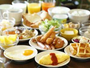 天然温泉加賀の湧泉 ドーミーイン金沢:朝食バイキング一例