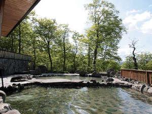 八幡平グリーンホテル:*露天風呂一例/自然と一体化するような、解放感たっぷりのロケーション!