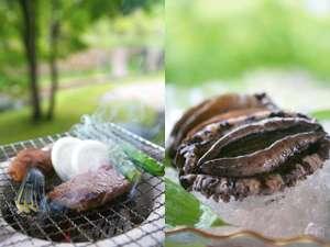 料理旅館 樹香苑:「A4ランクステーキ」と「高級アワビ」の一例