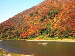 休暇村 羽黒:紅葉シーズンにおススメ! 秋の最上川。目にも鮮やかな紅葉を、ぜひご堪能ください