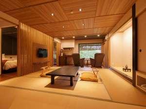 長栄館:紫水亭特別室6階風雅(Fu雅)・5階流雅(Ryu雅):広々とした72平米の空間は離れを思わせるほど。