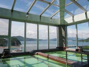 答志島温泉 寿々波:【展望風呂】天気の良い日は本当に海や島がきれいに望めます