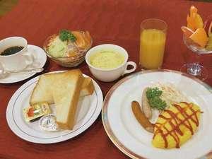 サンパレスホテル:朝食一例(洋食)