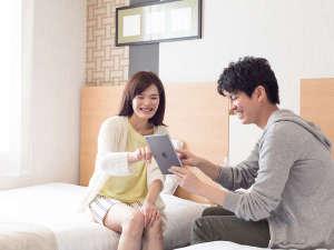 コンフォートホテル仙台東口:お部屋には無料でご利用いただける有線LAN、無線Wi-Fiが通っています。