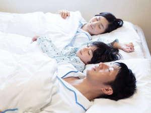 コンフォートホテル仙台東口:小学生以下のお子様は添い寝無料♪タオルや寝巻(大人サイズのみ)をご利用の際はスタッフまで。
