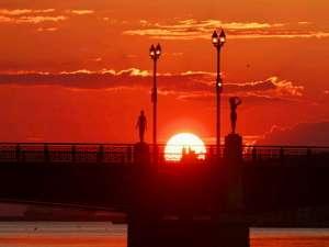 「世界三大夕日」とも言われている釧路の夕日。