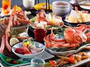 四季を奏でるさらさの宿  皆生つるや:~八種の蟹料理を堪能『極』会席~ かに!カニ!蟹!生から焼きまで8種類の蟹料理を味わう究極の蟹会席