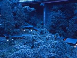 浮羽別館  新紫陽:「森の露天風呂」
