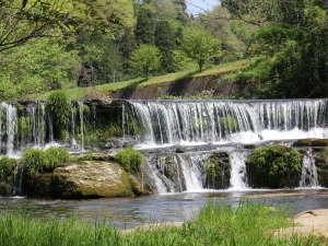宮島温泉 滝乃荘:■宮島峡の一の滝■小さなナイアガラと言われ、落差は小さいですが横に広がっているのが特徴です♪