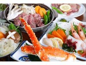 ブリーズベイシーサイドリゾート松島(BBHホテルグループ):タラバ蟹と仙台牛陶板焼き&ハーフバイキング(一例)