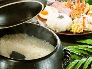 Ma-Blue Garden House:ランチメニューのご飯は土鍋&備長炭で炊いた自慢のごはん