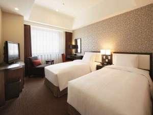 ロイヤルパークホテル ザ 福岡:■スタンダードツイン(25㎡)■バス・トイレセパレートタイプ。全客室加湿空気清浄器完備。