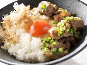 ■朝食:スコール自慢の隠しメニュー!「玉子かけご飯」&「どて焼き」!是非お試しください♪