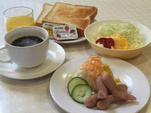 ビジネス観光ホテルいけだ:平日のご宿泊には朝食無料サービス