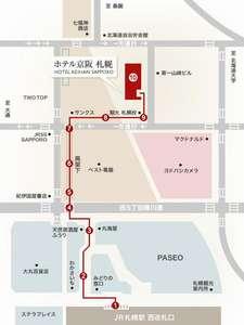 JR札幌駅からホテルまでのアクセス。