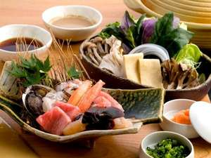 八幡野温泉郷 杜の湯 きらの里:海鮮しゃぶしゃぶ一例