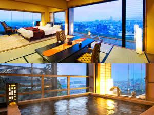 【特別室~展望檜風呂付~】温泉も、景色も、何もかも≪特別なもの≫を味わいたい方へ