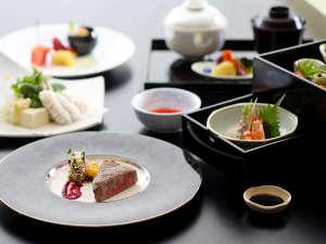 【厳選会席~竹時雨~】国産牛のステーキをメインディッシュに♪