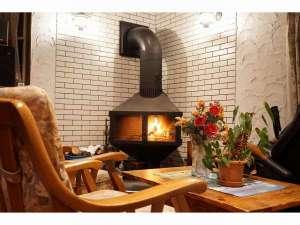 愛犬の宿 ラブリーワンズ:11月ごろから薪ストーブの火が付きます