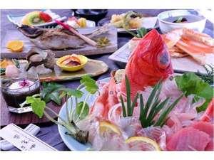 長八の宿 山光荘:【料理】夕食基本コースのイメージ山光荘では伊豆ならではの食材をご堪能いただけます。