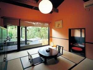 いやしの里 松苑:【客室】自慢の離れは、寝湯・露天・岩盤浴を備える。温泉三昧♪