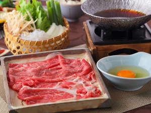 京野菜とA4ランク黒毛和牛すき焼き会席プラン
