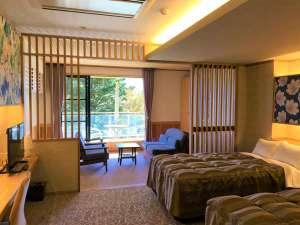 伊豆高原ホテル 五つ星:洋室ツインルーム。ベットはセミダブ十分な余裕をもってお休みいただけます。