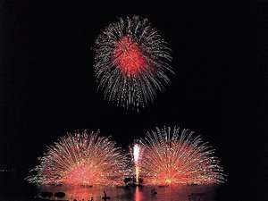 毎日音楽とシンクロした800発の花火が約15分間にわたり上がります♪