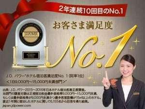 リッチモンドホテル東京目白:J.D.パワーホテル宿泊客満足度2016年度NO.1受賞