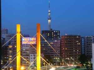 アパホテル<日本橋浜町駅南>:お部屋から見えるスカイツリーは絶景です