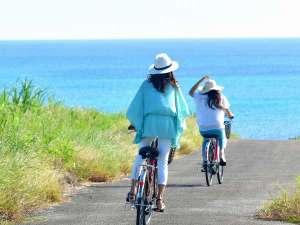 ホテルアラマンダ小浜島:【島の風景】小浜島を楽しむなら自転車がおすすめ。レンタサイクルも承っております。