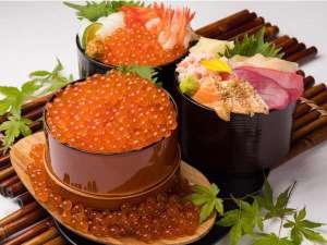 ベッセルイン札幌中島公園:海の幸を存分にご堪能ください♪毎日8種類を日替わりで提供。お好きなものを盛り付けるスーパー丼!