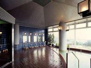 埼玉県伊豆潮風館:大浴場は展望風呂(2階)大室温泉はアルカリ性単純温泉