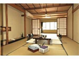 旅館さわき:12畳+6畳の2間続きの広々和室でグループ旅行にも最適◎