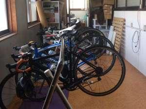 旅館さわき:大切な自転車を館内に保管可能♪雨の日でも大丈夫です!