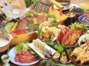 ◆皿鉢≪萬徳≫一例これぞ土佐清水の≪おもてなし≫!味だけでなくボリュームにも拘った皿鉢料理に舌鼓♪
