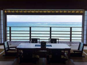 百名伽藍:伽藍スイート:白隠の間220度に広がる海の展望