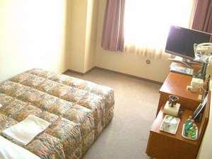 みずさわ北ホテル:シングルルーム ベットサイズ 130×210 セミダブルサイズベットで広々快適なひとときを♪