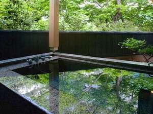 那須の温泉隠れ宿 昔日 オールドデイズ:自然がとても心地良い露天風呂(客室露天風呂一例)