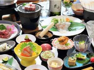 那須の温泉隠れ宿 昔日 オールドデイズ:こだわりの食材、味つけをじっくり味わって頂きたい料理の数々です。