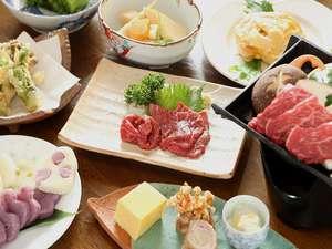 お宿 おばたけ:馬刺しや信州牛、また野沢の郷土料理を取り入れた料理を