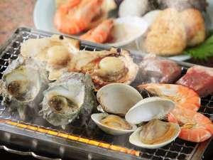房総白浜ウミサトホテル(旧紀州鉄道房総白浜ホテル):地元房総産の新鮮魚介を使用した海鮮浜焼き