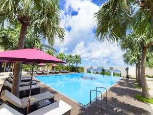 Okinawa Spa Resort EXES(沖縄スパリゾート エグゼス):【ガーデンプール】宿泊者専用のガーデンプール。東シナ海を眺めながらのんびりお過ごし頂けます。