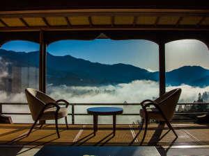 下呂温泉  今宵天空に遊ぶ しょうげつ:まさに天空から見渡すような客室からの眺望