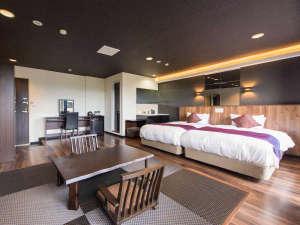 リブマックスリゾート安芸 宮浜温泉:【客室】和モダンをテーマにラグジュアリーな空間の露天風呂付和洋室♪