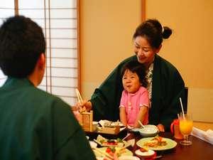 伊勢神宮のお膝元 鳥羽 胡蝶蘭:お子様の笑顔がうれしい家族でのお食事