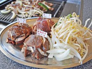 ながぬま温泉:【別棟物産館2F】3種のジンギスカンを食べくらべ!