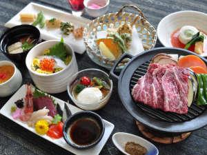ながぬま温泉:【ご夕食】長沼町が育てた自慢の『馬追牛』